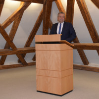 Prof. Dr. Thomas Beyer als Landesvorsitzender der AWO in Bayern sprach als Hauptredner über die Wichtigkeit des Ehrenamtes in Schnaittach